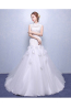 Sheath/Column Tulle Chapel Train Fashionable Wedding Dresses