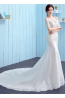 Trumpet/Mermaid Lace Court Train Wedding Gown Styles