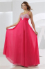 A-Line/Princess Sweetheart Neckline Floor Length Chiffon Prom Dress with Beads