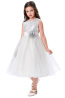 A-Line/Princess Tulle Tea-Length Dresses for Flower Girl in Wedding