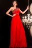 A-Line/Princess One-Shoulder Floor Length Chiffon Prom Dresses with Applique