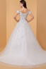 Ball Gown Off-Shoulder Court Train Tulle Wedding Dresses with Applique