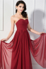 A-Line/Princess Sweetheart Neckline Floor Length Chiffon Bridesmaid Dresses with Pleats