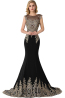 Sheath/Column Elastic Satin Sweep Train Womens Formal Evening Gowns
