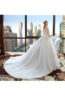 Ball Gown Tulle Court Train Gorgeous White Wedding Dresses