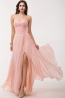A-Line/Princess Strapless Floor Length Chiffon Bridesmaid Dress with Front Slit