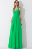 A-Line/Princess Spaghetti Floor Length Chiffon Bridesmaid Dresses with Pleats