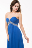 A-Line Chiffon Strapless Floor Length Prom Dress Beadings