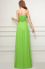 A-Line/Princess Strapless Floor Length Chiffon Prom Dress with  Embroidery