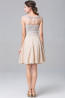 A-Line/Princess Bateau Neckline Knee Length Chiffon Cocktail Dress with Sequins