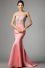 Trumpet/Mermaid Jewel Sweep Train Elastic Satin Evening Dresses With Beads