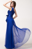 Sheath/Column One-Shoulder Floor Length Chiffon Evening Dress with Bow