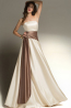 A-Line Strapless Floor Length Elastic Satin Bridesmaid Dresses with Sash