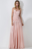 A-Line/Princess Strapless Floor-Length Satin Evening Dress with Pleats