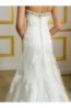 Sheath/Column Lace Sweep Train Wedding Gown for Bride