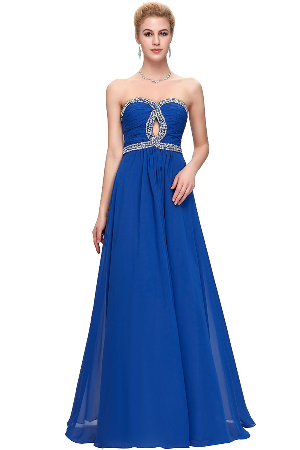 A-Line/Princess Chiffon Floor Length Bridesmaid Dresses for Weddings