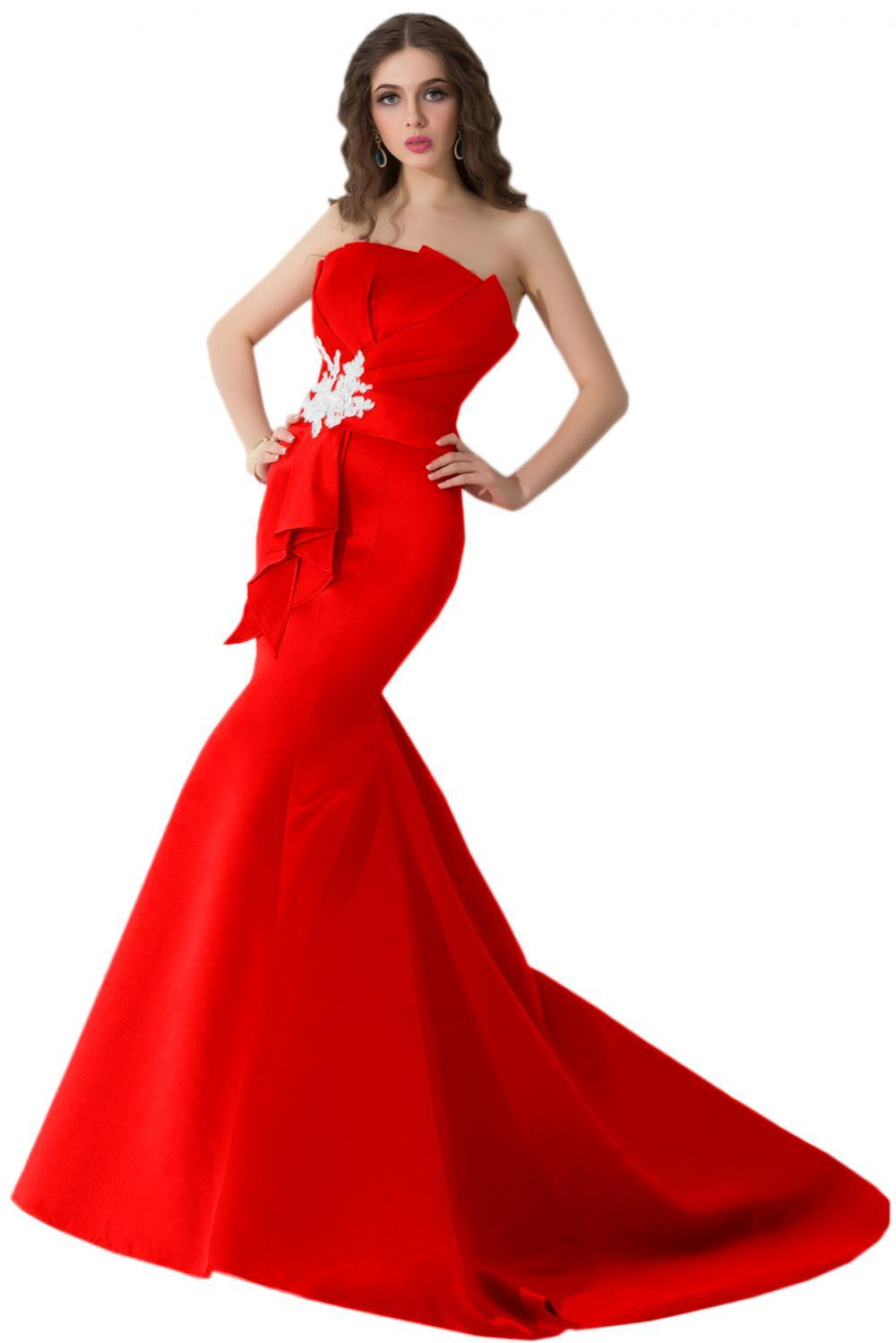 Sheath/Column Strapless Floor Length Satin Evening Dress with Beads