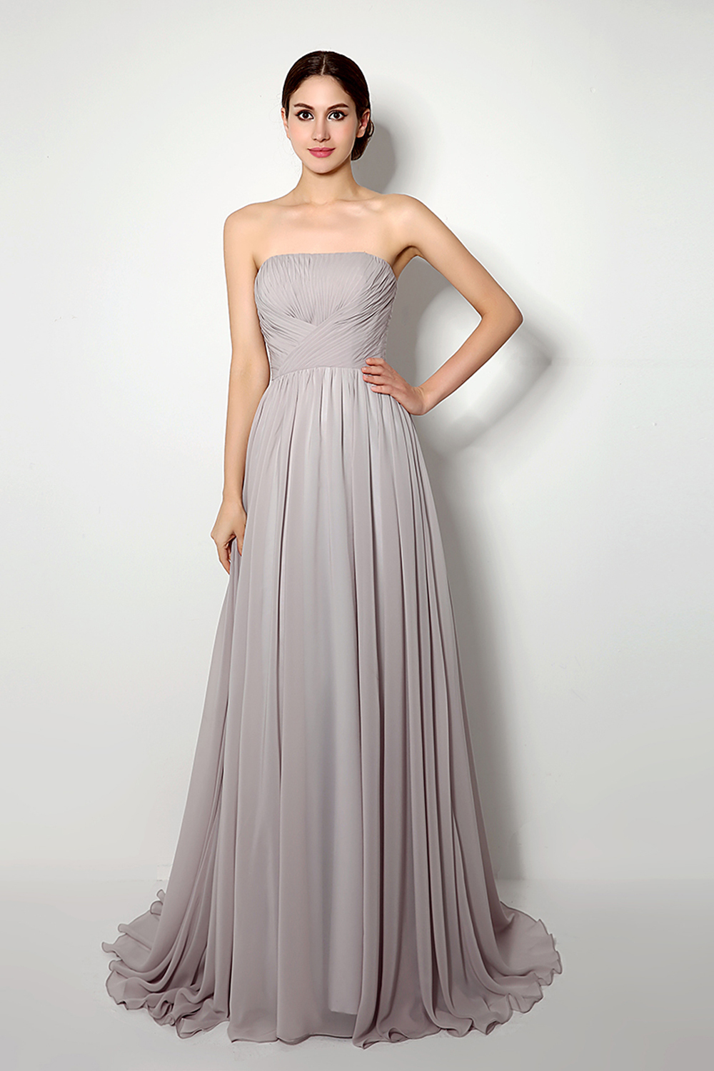 A-linie / prinzessin chiffon bodenlange dress für prom night
