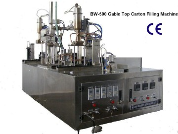 Small Type Manual Beverage Gable-Top Carton Filling Machinery (BW-500)