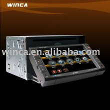 Two Din 6.2 inch Motorized Car DVD Player With TV/AM/FM/Bluetooth/USB/double SD CARD/ build in GPS/Touch screen/Ipod control