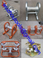 Pressed Steel Pipe/Cable Roller Triple Corner Rollers