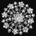 Decorative Rhinestone Garment Jewelry Big Flower Brooch Pin Bridal Wedding Crystal flower shape fashion design