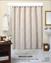 Matelasse leaves shower curtain
