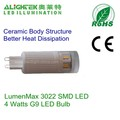 4w 3022 Smd G9 Led Bulb Warm White 2200k/2300k/2700k/3000k