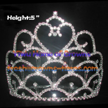 Heart Rhinestone Pageant Crowns