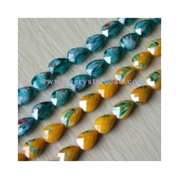 DF404 millefiori crystal glass beads