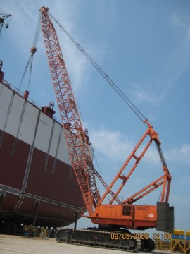 Supply Kobelco 7450 Crawler crane used 450ton crane TEL:+8613818259435