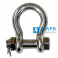 Stainless Steel Anchor Shackle With Safety Pin