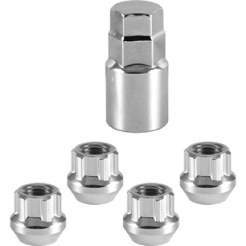 Chrome open end locking nut wheel lock set