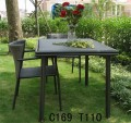 2012 hot sell durable beauty Rattan dining table and chairs 