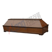 Satin Interior Veneered Coffin black walnut color with Plywood