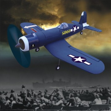 5861 F-4U CORSAIR plane model ready to fly