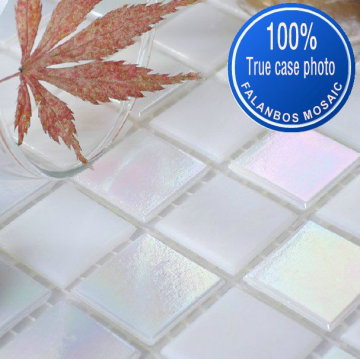 White Rainbow Mosaic Tile