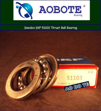 Single Row Thrust Ball Bearing For Crane Hook , Swden Skf 51103