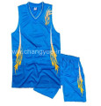 polyester mesh basketball sportswear with fashion design
