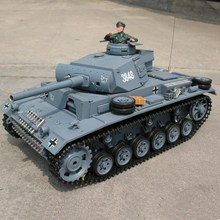 1:16 RC tank - PANZERKAMPFWAGEN III with functions of smoking , sound and lights