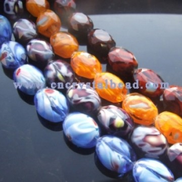 DF401 millefiori crystal glass beads