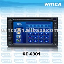 Two Din 6.2 inch fixed monitor /Car DVD Player With TV/AM/FM/Bluetooth/USB/SD CARD/GPS/Touch screen-CE6801
