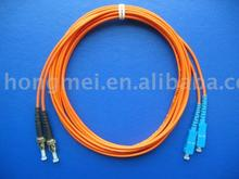View Large Image of ST-SC Fiber Optic Patch Cord.