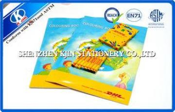 OEM A4 coloring book and 8 pcs crayons Stationery Set For D