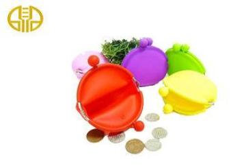 Red / yellow Silicone Coin Purse , Custom silicon mobile ph