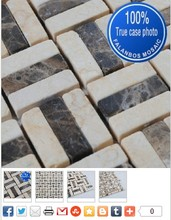 Multicolor Round Natural Stone Slate Wall Mosaic Tiles