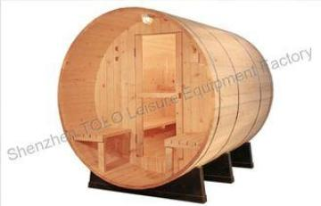 Electric barrel sauna cabins with solid wood for outdoor /