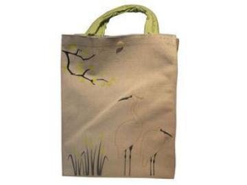 Double Crane Gunny Bag, Reusable Carrier Bags With Button C