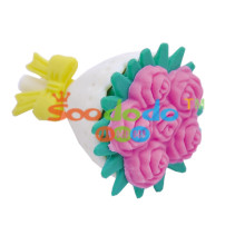 Purple Flower 3DShaped Eraser
