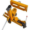 Hydraulic punching machine of railway tools